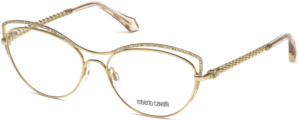 Roberto Cavalli - RC5041 Crespina Shiny Rose Gold Eyeglasses / Demo Lenses