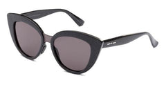 Italia Independent - Messina Holographic Black Sunglasses / Full Grey Lenses