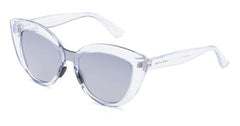 Italia Independent - Messina Glossy Crystal Sunglasses / Shaded Silver Mirror + Grey Lenses