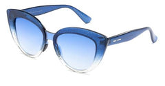 Italia Independent - Messina Light Blue Glitter Sunglasses / Shaded Silver Mirror + Blue Lenses