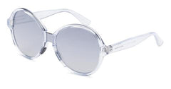 Italia Independent - Suez Glossy Crystal Sunglasses / Shaded Silver + Grey Mirror Lenses