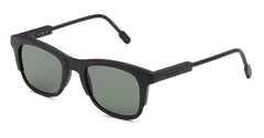 Italia Independent - Jared Black Sunglasses / Full Green Lenses