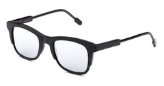 Italia Independent - Jared Black + Grey Acetate Sunglasses / Silver Mirror Lenses
