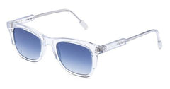 Italia Independent - Jared Glossy Crystal Sunglasses / Shaded Blue Lenses
