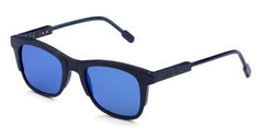 Italia Independent - Jared Dark Blue + Blue Acetate Sunglasses / Blue Mirror Lenses