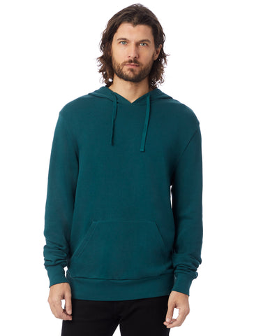 Alternative Apparel - Challenger Washed French Terry Pullover Dark Teal Hoodie