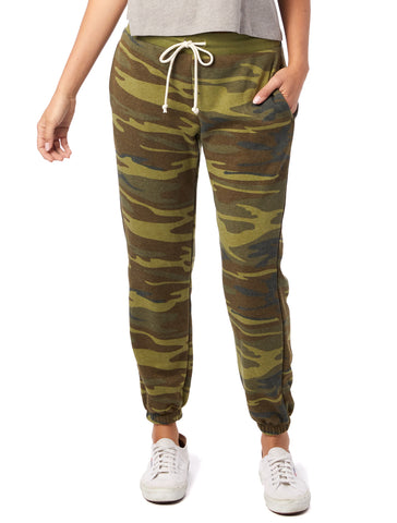 Alternative Apparel - Classic Printed Eco-Fleece Camouflage Sweatpants