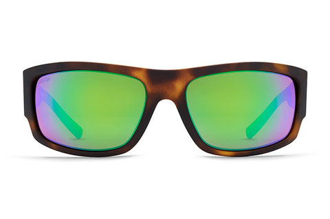VonZipper - Semi Tortoise Satin Sunglasses / Wild Green Chrome Polarized Lenses