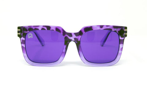 RainbowOPTX - Unit Leopard Sunglasses / Violet Lenses