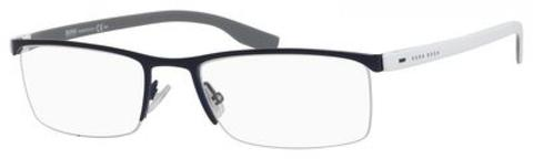 BOSS by Hugo Boss - 0610 Blue White Gray Eyeglasses / Demo Lenses