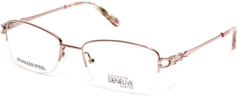 Catherine Deneuve - CD0421 49mm Shiny Pink Eyeglasses / Demo Lenses