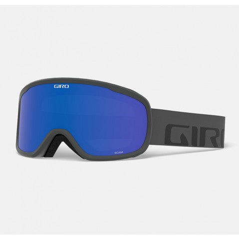 Giro - Roam Grey Wordmark Snow Goggles / Grey Cobalt + Yellow Lenses