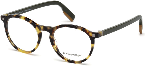 Ermenegildo Zegna - EZ5122 Colored Havana Eyeglasses / Demo Lenses