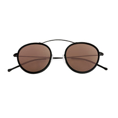 Spektre - Met-Ro 2 Flat Black Sunglasses / Rose Gold Mirror Lenses