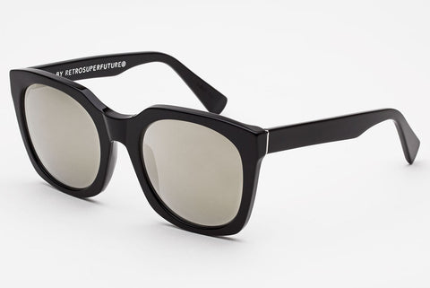 Super - Quadra Black Ivory Sunglasses