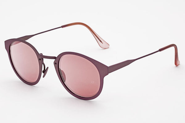 Super - Panama Synthesis Pink Metal Sunglasses