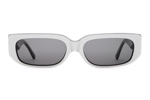 Crap Eyewear - Paradise Machine Reflective Shark Grey Sunglasses / Grey Lenses