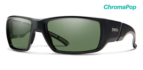 Smith - Transfer Matte Black Sunglasses / ChromaPop Polarized Gray Green Lenses