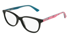 Puma - PJ0021O Junior Black + Multi Color Eyeglasses / Demo Lenses