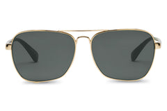 TOMS - Navigator 201 Shiny Gold and Panama Tortoise Green Grey Sunglasses