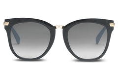 TOMS Adeline Black Sunglasses, Grey Gradient Lenses