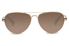 TOMS - Maverick 201 Combo Gold Polarized Solid Brown Sunglasses