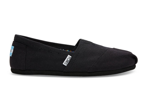 TOMS - Women's Classics Black on Black Canvas Slip-Ons