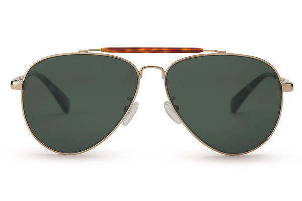 TOMS - Maverick 301 Yellow Gold Polarized Green Grey Sunglasses