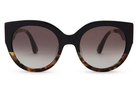 TOMS - Luisa Black Tortoise Fade Sunglasses, Grey Gradient Lenses