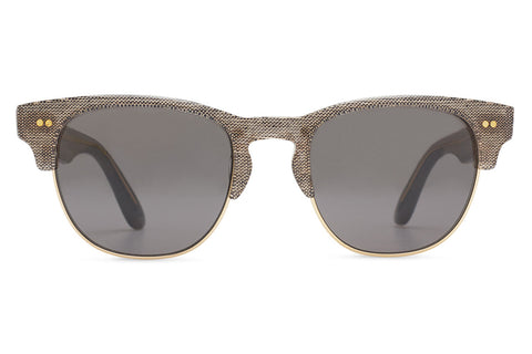 TOMS - Lobamba Grey Denim Sunglasses, Smoke Grey Lenses