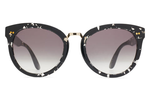 TOMS - Yvette Clear-Black Tortoise Sunglasses, Grey Gradient Lenses