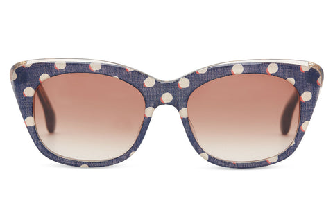 TOMS - Kitty Retro Polka Dot Sunglasses, Violet Brown Gradient Lenses