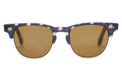 TOMS - Kitty Retro Polka Dot Sunglasses, Solid Brown Lenses