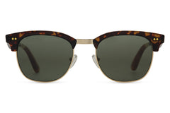 TOMS Gavin Tortoise Crystal Sunglasses, Green Grey Lenses