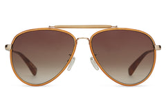 TOMS - Maverick 401 Sand Crystal Shiny Gold,  Sunglasses, Brown Gradient Lenses
