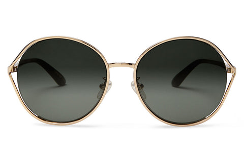 TOMS - Blythe Rose Gold Polarized Sunglasses, Olive Gradient Lenses