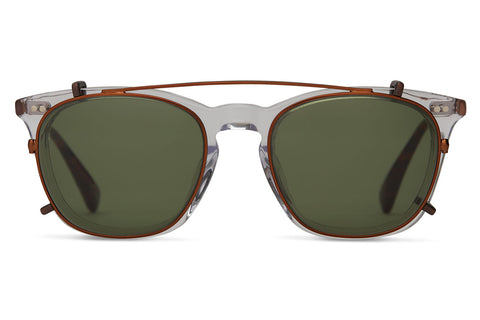 TOMS - Maxwell Vintage Crystal Sunglasses, Glass Bottle Green Lenses