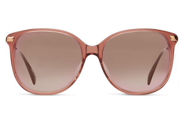 TOMS - Sandela 201 Sherry Crystal Sunglasses, Rose Gold Mirror Lenses