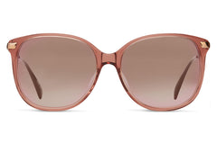TOMS Sandela 201 Sherry Crystal Sunglasses, Rose Gold Mirror Lenses