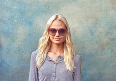 TOMS - Adeline Powder Blue Sunglasses, Light Blue Mirror Lenses