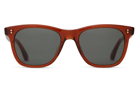 TOMS - Fitzpatrick Red Rock Crystal Sunglasses, Green Grey Lenses