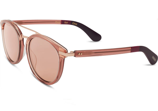TOMS Harlan Sherry Crystal Sunglasses, Rose Mirror Lenses