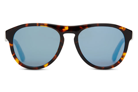 TOMS - Declan Whiskey Tortoise Sunglasses, Black Diamond Mirror Lenses