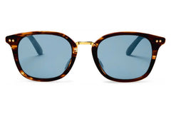 TOMS - Barron Whiskey Tortoise Sunglasses, Black Diamond Mirror Lenses