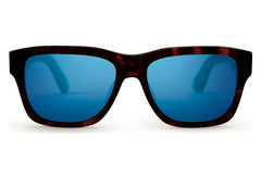 TOMS - Culver 201 Whiskey Tortoise Zeiss Polarized Sunglasses, Black Diamond Mirror Lenses