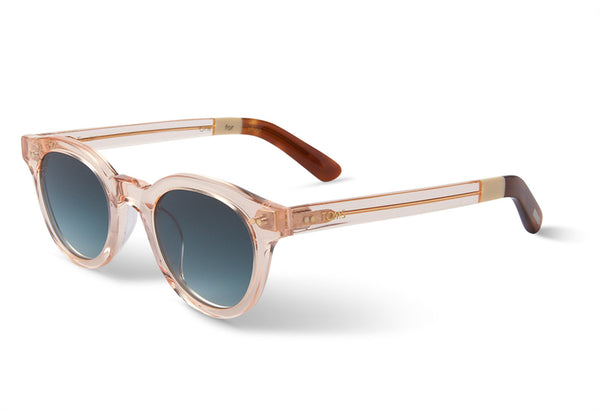 TOMS - Fin Peach Crystal Sunglasses, Blue Brown Gradient Lenses