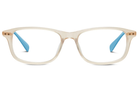 TOMS - Alexis Matte Champagne Satin Gold / Light Blue Rx Glasses