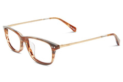 TOMS - Alexis Marble Shiny Gold / Honey Tort Rx Glasses