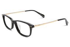 TOMS - Alexis Shiny Black / Shiny Gold / Shiny Black Rx Glasses
