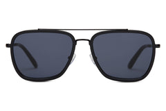 TOMS - Irwin Shiny Black Sunglasses, Black Diamond Mirror Lenses